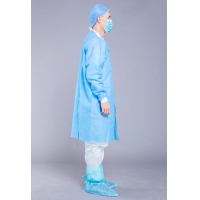 China Visitor Blue Non Woven SMS 35g Disposable Lab Coat on sale