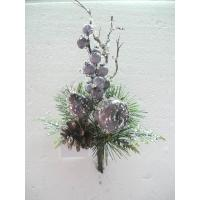 Quality Christmas Silk Floral Arrangements Artificial Decorative Flowers and Plants with Fruits wholesale
