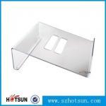 Quality Acrylic Notebook Holder, Lucite Laptop Desk stand, Plexiglass Notebook Riser wholesale