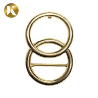 Quality Double Loop Ring Womens Belt Buckle 30mm With Beautiful Appearance wholesale
