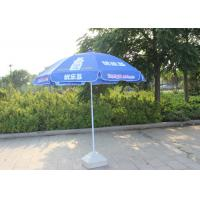 Quality Easy Open Slogan Round Outdoor Umbrella , Strong Colorful Beach Umbrellas wholesale