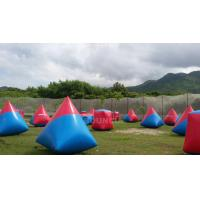 Quality 0.6mm PVC Tarpaulin Inflatable Paintball Bunker Airsoft Bunker Set For Shooting Games wholesale