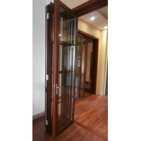 Quality Thermal Break Entrance Aluminum Folding Glass Door Accordion Sliding Closed wholesale
