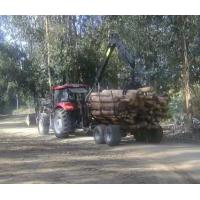Buy cheap 10Ton Log Trailers with Grapple, Forestry Crane Trailer, farm log grapple timber trailer with crane from wholesalers