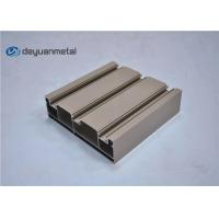 Quality Standard Tan Powder Coating Aluminum Extrusions Shapes With Alloy 6063-T5 wholesale