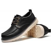 Cheap Handmade Mark Thread Mens Formal Leather Shoes , Tan Color Casual Winter Shoes for sale