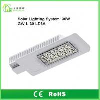 Quality DC12V Outdoor Solar Powered LED Street Lights 30W IP65 With 8 Years Warranty wholesale