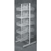 Quality 4 Tier Folding Metal Wire Bread Display Rack with Sign Holder wholesale