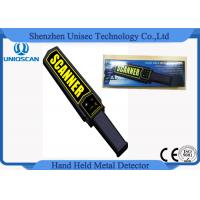 Quality MD3003B1 OEM Hand Held Metal Detector Wands For Security , Yelllow Scanner Sticker wholesale