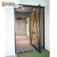 Quality Space Saving Glass Pivot Front Door With Powder Coated Surface Treatment door pivot hinges glass door pivot front door d wholesale