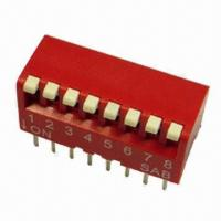 Buy cheap BPE Series Piano Type Switch, SPST/2PST, Available in Red/Blue/Black from wholesalers
