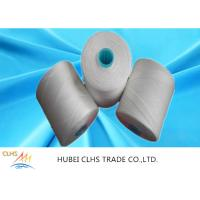 Quality White Polyester Yarn Dyeing , 100 Spun Polyester Sewing Thread For Hand Knitting wholesale