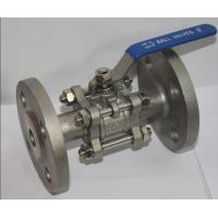 "Quality Full Bore 1/2"" SS304 3PC Flange Type Ball Valve , Blow Out Proof Stem wholesale"