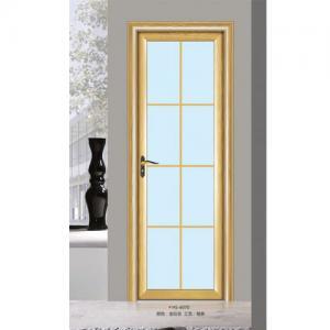 Quality Silver Aluminium Glass Doors / Office Tempered Interior Glass Door wholesale