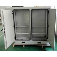 Quality SU304 Temperature Control Outdoor Stainless Steel Cabinets Anti smoke Anti corrosion Powder Coating wholesale