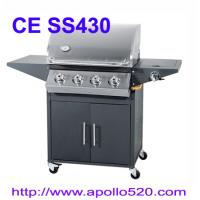 Cheap 4 Burner Barbecue with side burner for sale