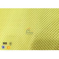 Cheap Plain / Twill Weave Aluminized Kevlar Fabric 1000D Yellow Chemical Resistance for sale