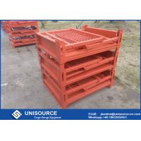 Buy cheap Stackable Foldable Metal Box Industrial Steel Pallet Cages For Logistics from wholesalers