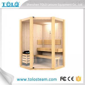 Buy cheap Polygon cedar sauna cabins indoor for 3 person - 6 person product