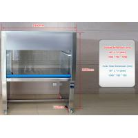 China Laminar Air Flow Horizontal Clean Room Cabinets Stainless Steel , 1460×520×600mm on sale