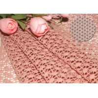 Quality 47 Inches Guipure French Venise Lace Fabric / Embroidered Dress Fabric By Azo Free wholesale