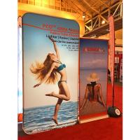 Quality Tension Fabric Banner stands , Fabric tube display Aluminium Material wholesale