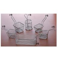Quality Mini Perforated Baking Tray Wire Mesh Deep Fat Fryer French Fries Holder Basket wholesale