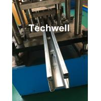 Quality Custom Made Guide Rail Roll Forming Machine For Making Sliding System Devices With Hydraulic Punching wholesale