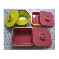 Quality collapsible  silicone round  lunch box ,silicone partable  lunch box manufacturers wholesale