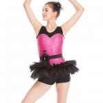 Quality Biketard Jazz Costume Dance Wear Sequins Joints Lace Performance Dance Competition Clothes wholesale