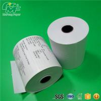 Quality Dust Free Credit Card Terminal Paper Rolls High Performance Nontoxic Tight Rolling wholesale