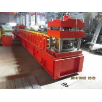 Quality European Metal Door Slot Profile Roll Forming Machine With Automatic Punching 3 - 5 m / min wholesale