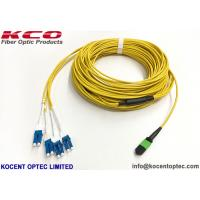 Quality 40G Data Center MTP Trunk Patch Cable MPO - LC Duplex Uniboot 8 12 24 Core PVC LSZH Cover wholesale