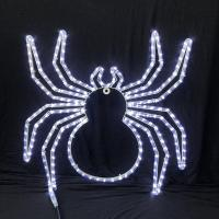 China 2018 Halloween festival spider pattern white LED rope light motif light IP55 garden indoor/outdoor decoration lighting on sale