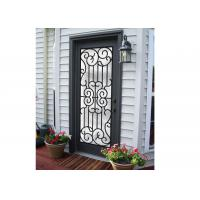 Quality Professional Wrought Iron And Glass Entry Doors For Building Sound Insulation wholesale