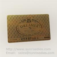 China Chemically Etched process metal cards metal page marker bookmars maker on sale