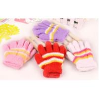 Quality Kids Striped Knitted Glove High Quality Hands Fashion Soft Knitted colorful striped Fashion gloves for kids wholesale