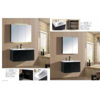 Cheap Contemporary Square Basin Type Hanging Bathroom Vanity Plywood 16mm Board 80cm for sale