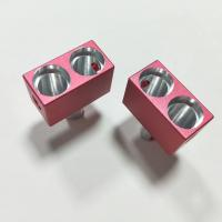 Quality Counterbore 4 Axis CNC Machining Aluminum Parts with Pink Color Sandblasted Anodized wholesale