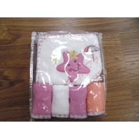 China pattern hooded towel & 4 pk terry wash cloth on sale