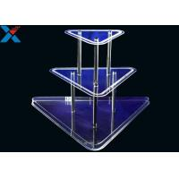 Quality Clear 3 Layer Acrylic Wine Holder , Lucite Display Stands Durable And Chemical Stability wholesale