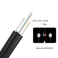 Quality Single Mode G657A1 LSZH Sheath FTTH Indoor 1 Core Fiber Optic Drop Cable GJXH wholesale