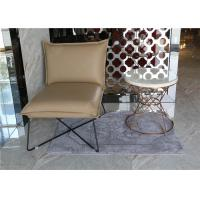 Quality Luxury Customized White Hotel Coffee Table Stainless Steel / Metal Frame With Hotel Chair wholesale