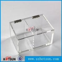 Quality 2016 newest clear/plexiglass customised acrylic small boxes with lid wholesale