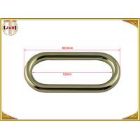 Quality 50 x 4mm Oval Key Holder Metal Belt Loops , Stainless Steel / Metal O Rings Hardware wholesale