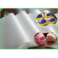 China FDA & SGS 33 ~ 38gsm Translucent Cupcake Liner Paper White Color In Sheet on sale