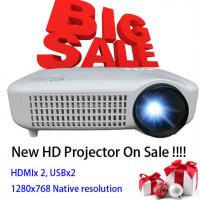 Quality Newest 2015 White Color Video LCD Home Theater Projector With HDMI USB Proyector Beamer wholesale