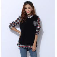 Quality Autumn Cashmere Sweaters / Sleeveless Knit Jacket With Front Pocket wholesale
