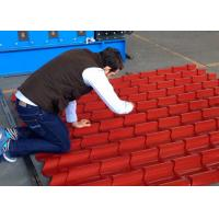 Quality Galvanized Steel Roof Tile Roll Forming Machine With Improved 3D Cut wholesale