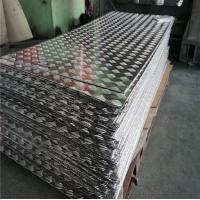 Quality Aircraft Grade Aluminium Alloy Checker Plate Embossed Tread Sheet 1.0 - 5.0mm Thickness wholesale